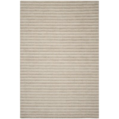 Keith Beige Stripe Area Rug Rug Size: Rectangle 6 x 9