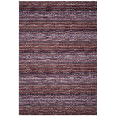 Keith Purple Stripe Area Rug Rug Size: 5 x 8