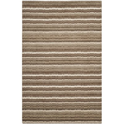 Keith Natural Stripe Area Rug Rug Size: 5 x 8