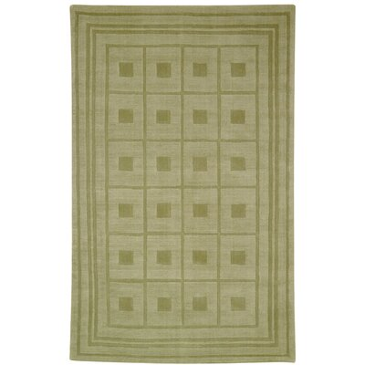 Makenna Blocks Green Contemporary Rug Rug Size: 76 x 96 Rectangle