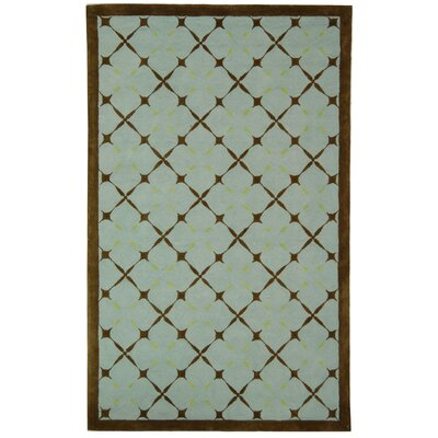Dominique Blue Geometric Area Rug Rug Size: 3 x 5