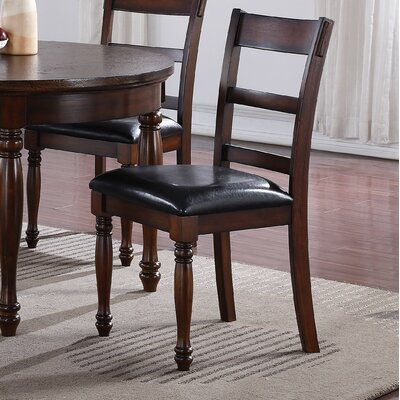 Jeremy Genuine Leather Upholstered Dining Chair (Set of 2)