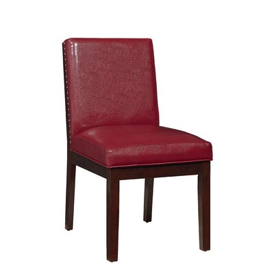Kirby Side Chair (Set of 2) Upholstery: Red