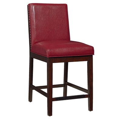 Kirby Counter Height Side Chair (Set of 2) Color: Red
