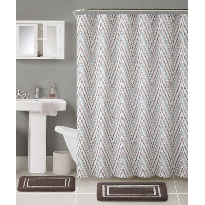 Kevin 3 Piece Shower Curtain Set