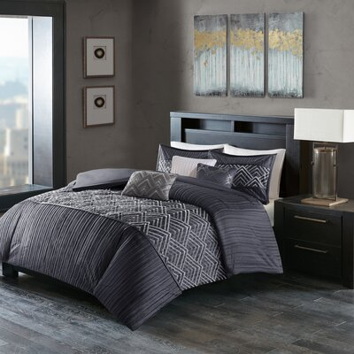 Jason 6 Piece Duvet Cover Set Size: King/California King, Color: Blue