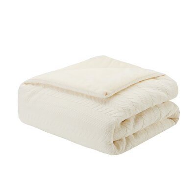 Ivy Matelasse Down Alternative Throw Color: Ivory