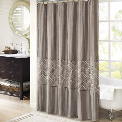 Jason Shower Curtain Color: Taupe