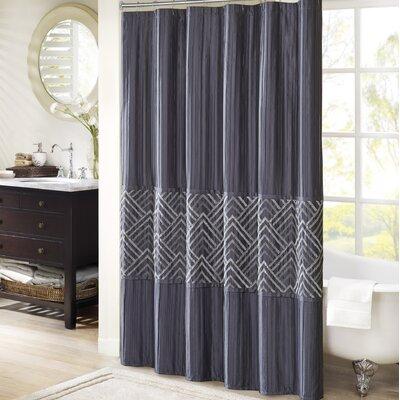 Jason Shower Curtain Color: Midnight