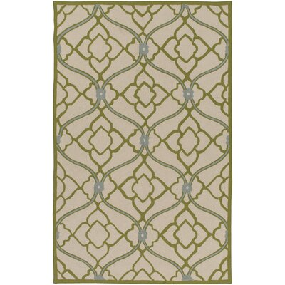 Grant Lime/Beige Indoor/Outdoor Area Rug Rug Size: 4 x 6