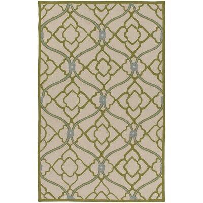 Grant Lime/Beige Indoor/Outdoor Area Rug Rug Size: 5 x 76