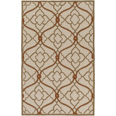 Grant Beige/Mocha Indoor/Outdoor Area Rug Rug Size: Rectangle 8 x 10