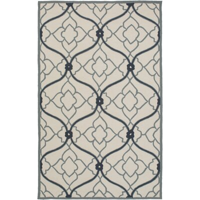 Grant Navy/Beige Indoor/Outdoor Area Rug Rug Size: 5 x 76