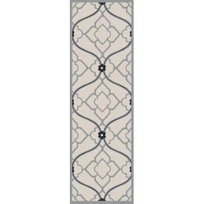 Grant Navy/Beige Indoor/Outdoor Area Rug Rug Size: Runner 26 x 8