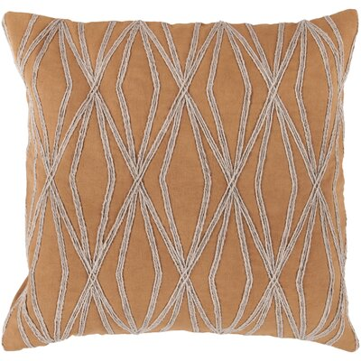 Jamal 100% Cotton Throw Pillow Cover Size: 22 H x 22 W x 0.25 D, Color: OrangeNeutral