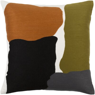 Orville 100% Cotton Throw Pillow Cover Color: GreenOrange, Size: 20 H x 20 W x 1 D