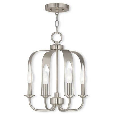 Lawrence 4-Light Foyer Pendant Finish: Brushed Nickel