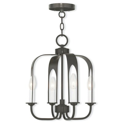 Lawrence 4-Light Foyer Pendant Finish: English Bronze