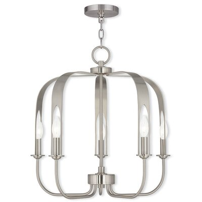 Lawrence 5-Light Foyer Pendant Finish: Brushed Nickel