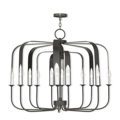 Lawrence 12-Light Foyer Pendant Finish: English Bronze