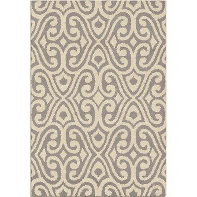 Erelina Gray/Beige Area Rug Rug Size: Rectangle 53 x 76