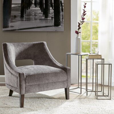 Jane Slipper Chair Upholstery: Gray