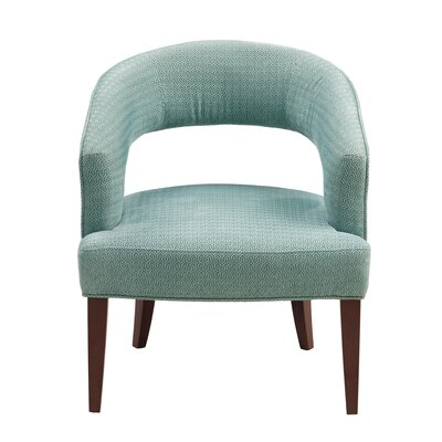 Daphne Barrel Chair Upholstery: Blue