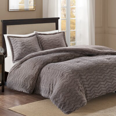 Darcy Comforter Set Size: Full/Queen, Color: Gray