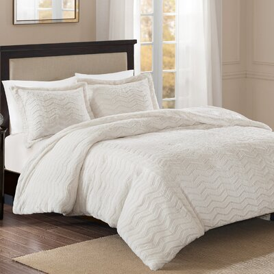 Darcy Comforter Set Size: Full/Queen, Color: Ivory