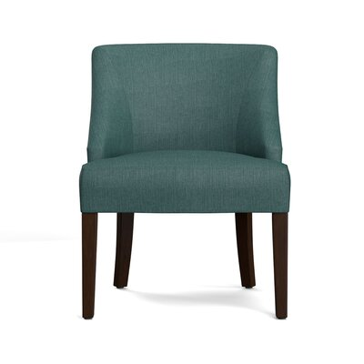 Felipe Rattan Back Side Chair Upholstery: Peacock Blue