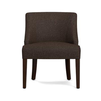 Felipe Rattan Back Side Chair Upholstery: Chocolate Brown
