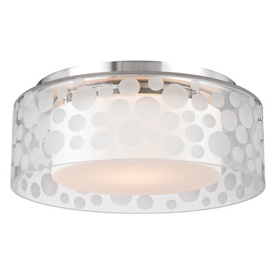 Elva 1-Light Semi Flush Size: 4.25 H X 11 W X 11 D