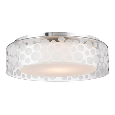 Elva 1-Light Semi Flush Size: 4.25 H X 15 W X 15 D