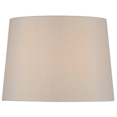 14 Fabric Drum Lamp Shade Color: Beige