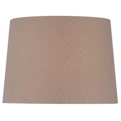 14 Fabric Drum Lamp Shade Color: Brown