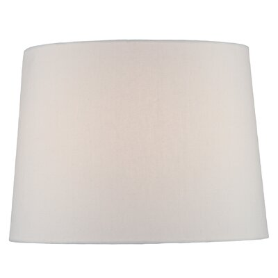 14 Fabric Drum Lamp Shade Color: White