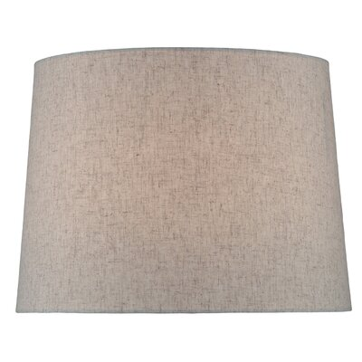 14 Fabric Drum Lamp Shade Color: Gray