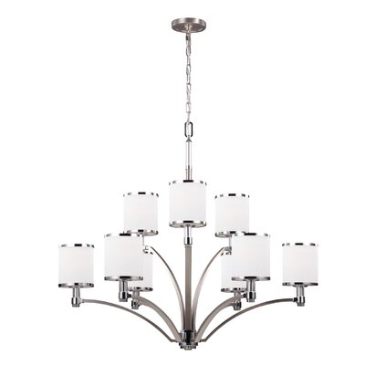 Gladys 9-Light Shaded Chandelier