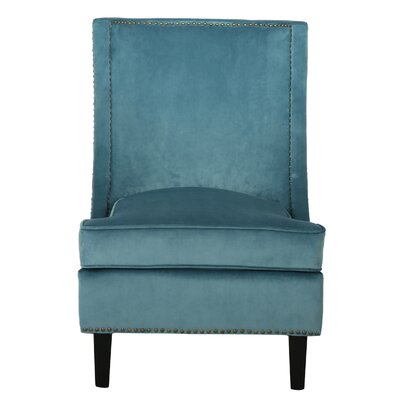Olson Slipper Chair Upholstery: Blue