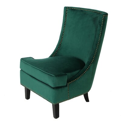 Olson Slipper Chair Upholstery: Emerald Dark Green