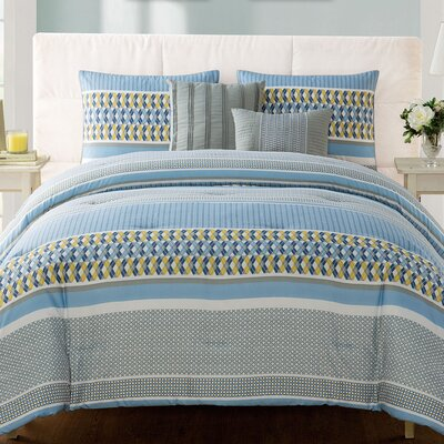 Luke 5 Piece Comforter Set Size: Twin/Twin XL, Color: Blue