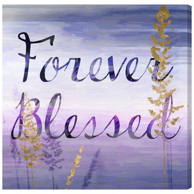 Forever Blessed Lilac Textual Art on Canvas