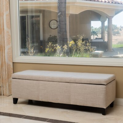 Connie Storage Ottoman Upholstery Color: Light Beige