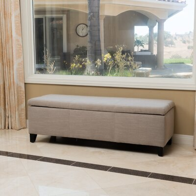 Connie Storage Ottoman Upholstery Color: Sand