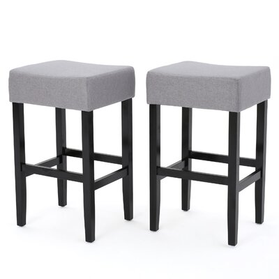 Gabriel 30 Bar Stool Upholstery Color: Gray