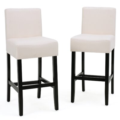 Ingleside 26 Bar Stool Upholstery: Gray