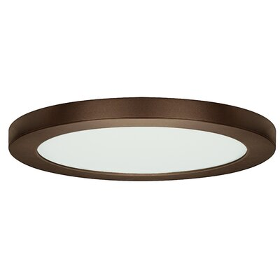 Jasmine 1-Light 3000K Flush Mount Finish: Bronze