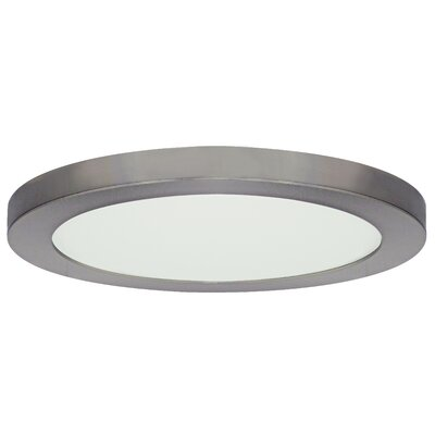 Jasmine 1-Light 3000K Flush Mount Finish: Brushed Nickel