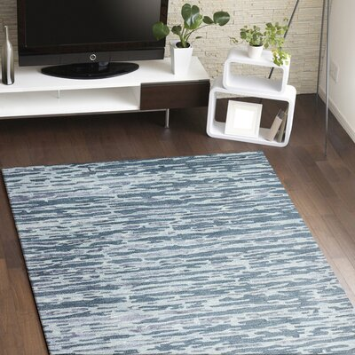 Janice Hand-Tufted Blue Area Rug Rug Size: Runner 26 x 8