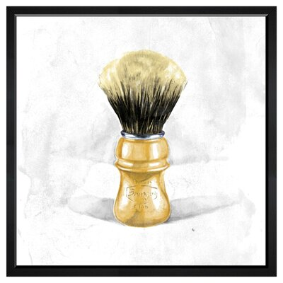 "Shave Brush Framed Painting Print Size: 30"" H x 30"" W x 1.5"" D LATR4481 33011712"